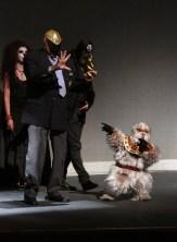 Tinieblas y Alushe ovacionados en el Teatro de la Ciudad Esperanza Iris. Foto: Pedo Sánchez