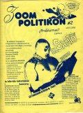 Portada de la gacetilla del Cine Club Políticas (FCPyS); Zoom Politikon N. 2, dedicado al ciclo de cine del Santo en 1998.