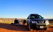 Camping at Horseshoe Canyon, Canyonlands, UT