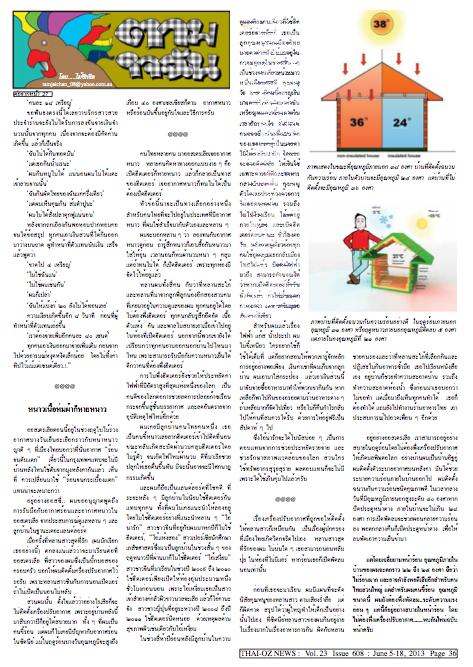 เรื่องราวตามใจฉันที่พิมพ์ในหนังสือพิมพ์ไทย-ออสนิวส์ฉบับที่ ๖๐๘ หน้าที่สอง