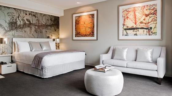 สภาพมุมหนึ่งของห้องพักโรงแรม Olsen
