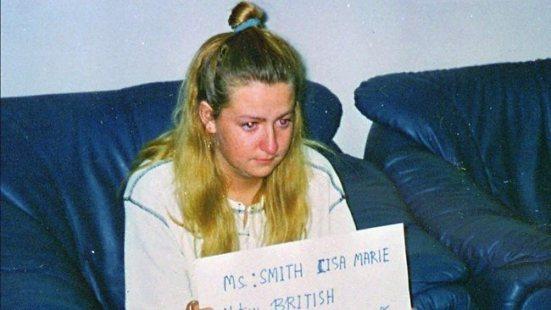 น.ส. Lisa Marie Smith ขณะถูกจับกุม