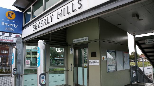 สถานีรถไฟ Beverly Hills ที่เกิดเหตุ