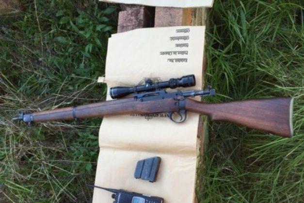 ปืน calibre sniper .222 ภาพจากสำนักงานตำรวจรัฐน.ซ.ว.