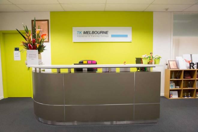วิทยาลัย TK Melbourne Education and Training College จากเว็ปไซท์ของวิทยาลัย