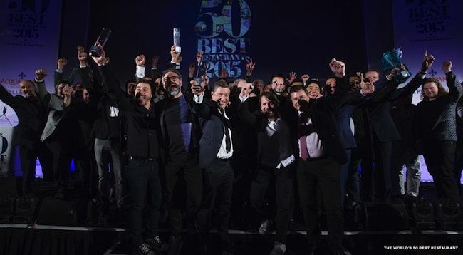 การจัดงาน World's 50 Best Restaurant Awards ปี 2015 ที่กรุงลอนดอน : ภาพจาก finedininglovers.com