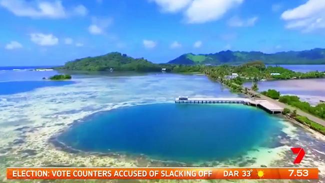เกาะ Kosrae ของสหพันธรัฐไมโครนีเซียในมหาสมุทรแปซิฟิก : ภาพจากทีวี 7
