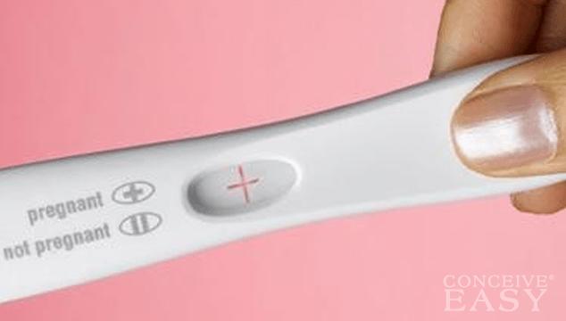 ผลการตรวจการตั้งครรภ์เป็นบวก : ภาพประชาสัมพันธ์สินค้ายี่ห้อหนึ่งตามที่ระบุในภาพ