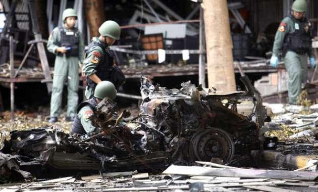 คาร์บอมบ์ที่จังหวัดปัตตานี : ภาพจากนสพ. the China Post ต้นฉบับสำนักข่าว AP
