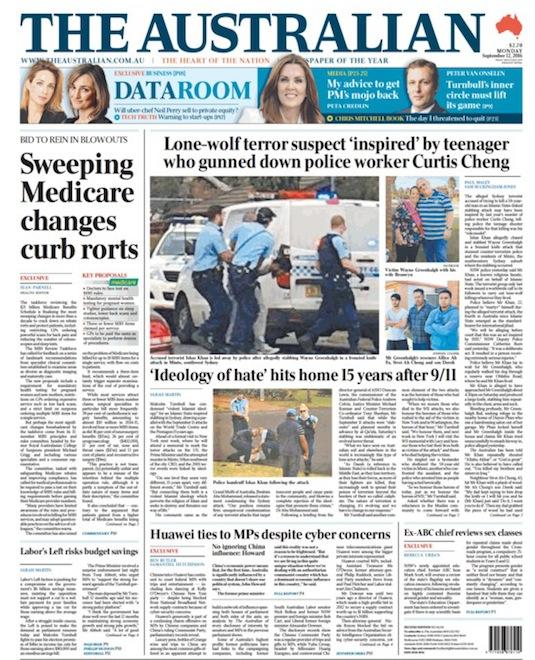 นสพ. the Australian ฉบับ 12 ก.ย. 2016 เสนอข่าวเหตุการณ์ที่ Minto โดยระบุว่ามีแรงจูงใจจากเหตุการณ์นาย Farhad Jabar นักเรียนวัย 15 ปีบุกยิงนาย Curtis Cheng เจ้าหน้าที่ฝ่ายการเงินของสำนักงานตำรวจเสียชีวิตที่หน้าสำนักงานใหญ่ตำรวจรัฐน.ซ.ว.
