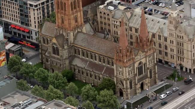 อาสนวิหาร St Paul's Cathedral ในนครเมลเบิร์น : ภาพจากสำนักข่าว AAP