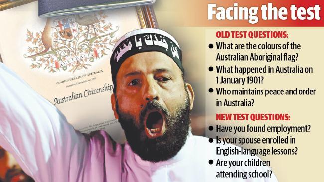 นาย Man Haron Monis ผู้ก่อการร้าย Lindt Cafe และตัวอย่างข้อทดสอบเก่าและใหม่สำหรับผู้ยื่นขอสัญชาติออสเตรเลีย