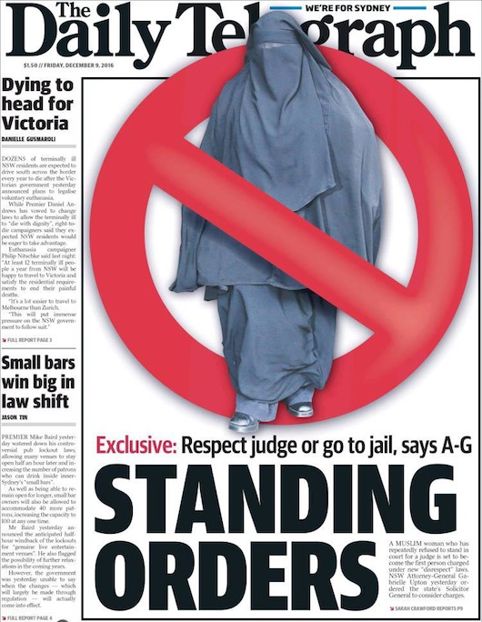 """นสพ. The Telegraph ฉบับ 9 ธ.ค. 2016 พาดหัวข่าว ยันตามกฎ : ร.มต.สำนักงานอัยการบอก """"เคารพผู้พิพากษาหรือไม่ก็ติดคุก"""""""