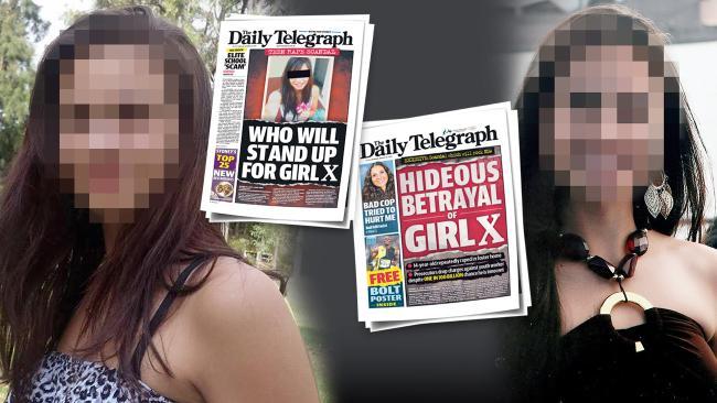Girl X และข่าวหน้าหนึ่งของนสพ. The Telegraph : ภาพจากนสพ. The Telegraph