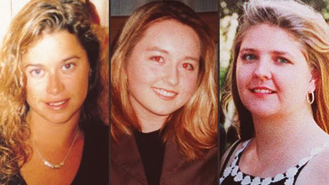 นาง Ciara Glennon, น.ส. Sarah Spiers และน.ส. Jane Rimmer เหยื่อฆาตกรรมต่อเนื่อง The Claremont Serial Murders ในสังหารระหว่างเดือนมกราคม 1996 ถึงมีนาคม 1997 : ภาพจากนสพ. Perth Now