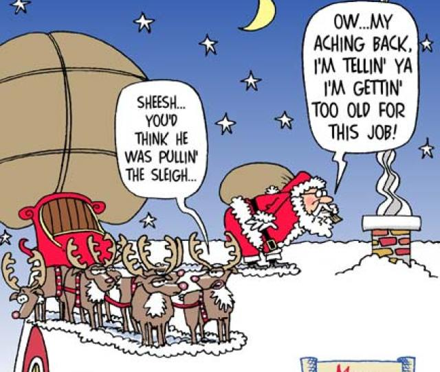 Santas Aching Back