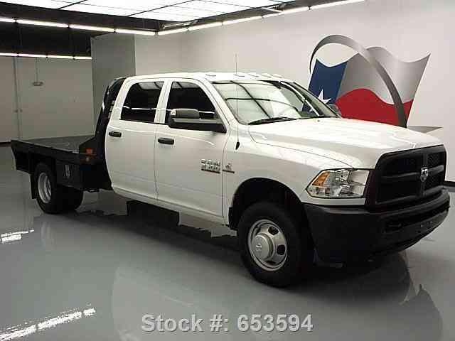 Dodge Ram 3500 Hd Tradesman Crew Diesel Flatbed 2015