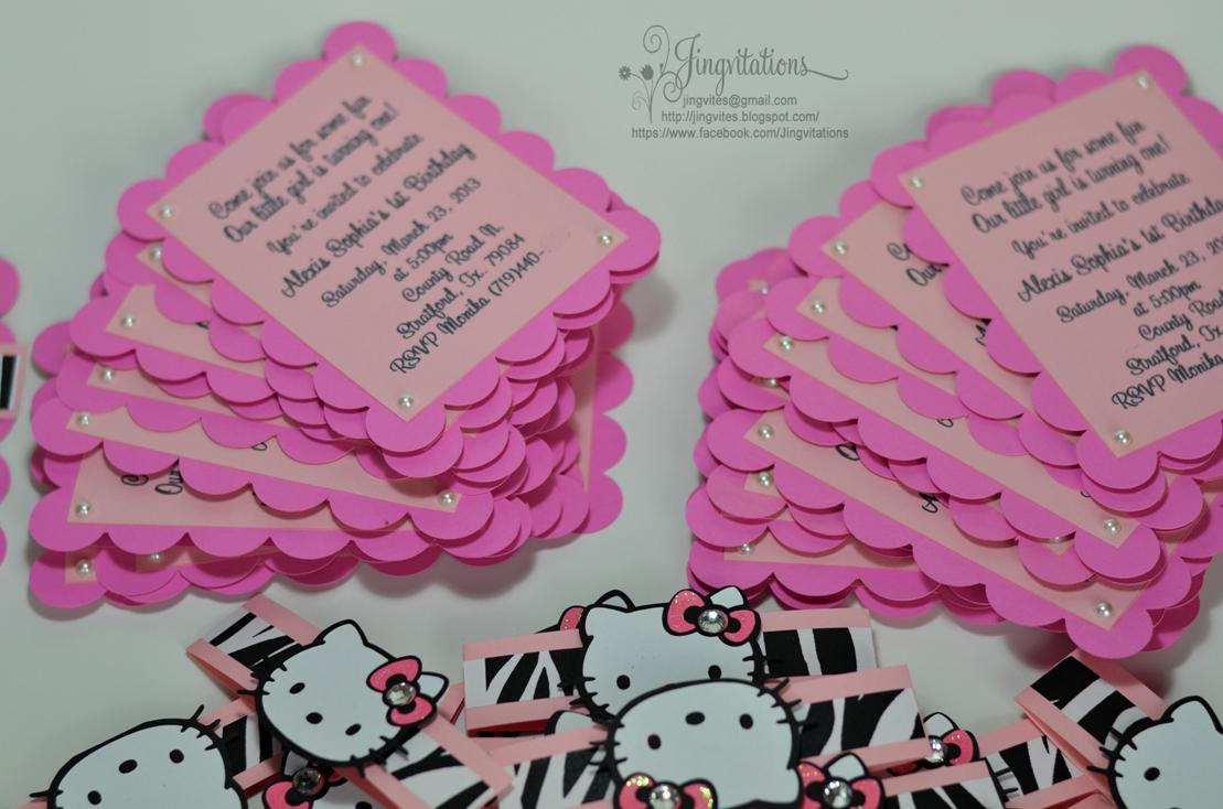 handmade hello kitty zebra pink