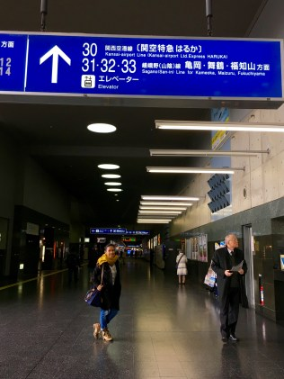 Towards Platform 31, 32, 33 JR Sagano (San-In) Line