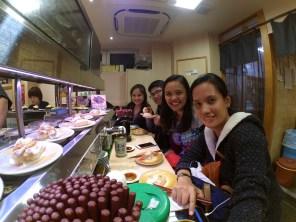Japan Gang invades Conveyor belt Sushi :D