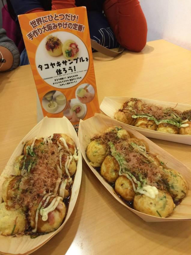 Bacon & Cheese Takoyaki (Left), Plain Takoyaki (Middle); Shrimp Takoyaki (Right)