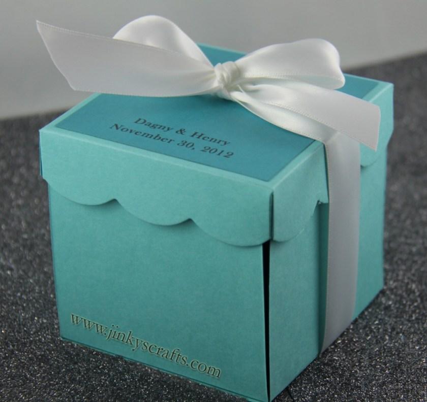 Tiffany Blue Gift Favor Box