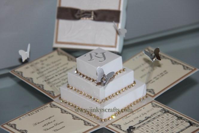Wedding Invitation Pop Up Card Linked Rings Tutorial