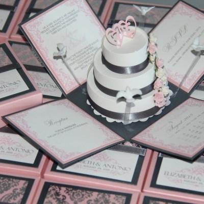 Castle Pop Up Wedding Invitation