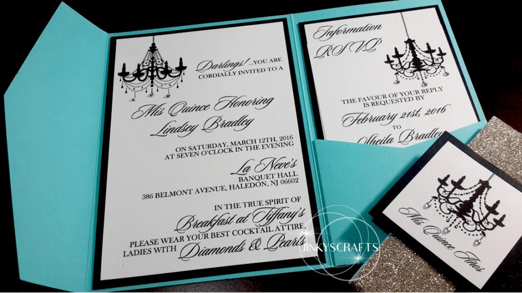 Pocketfold Tiffany Invitations Jinkys Crafts