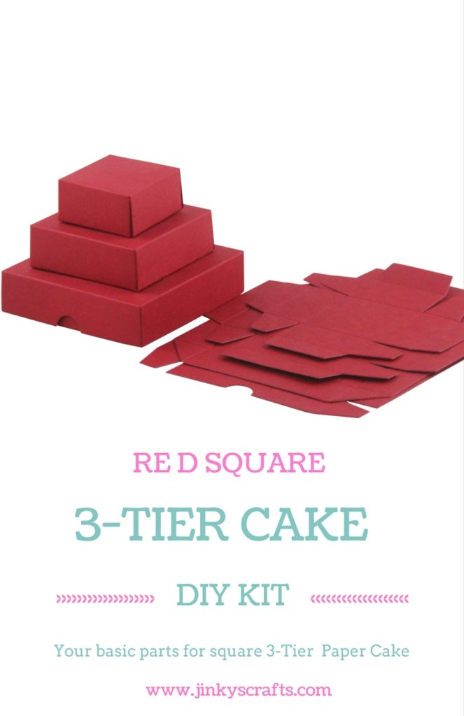 RED 3 TIER SQUARE DIY KIT Jinkys Crafts