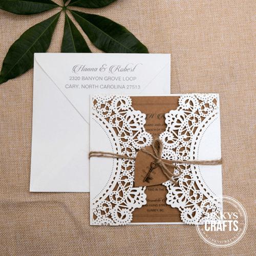Laser Cut Gatefold Wedding Invitation