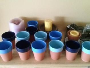 a little bit of springtime painted clay pots feb 2013
