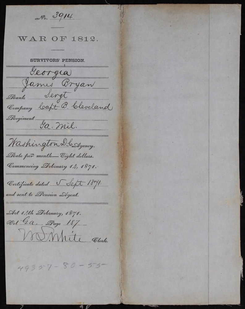 Week 47: November 22, 2014 – 52 Ancestor 52 Week Blog: James Bryan – War of 1812 (5/6)
