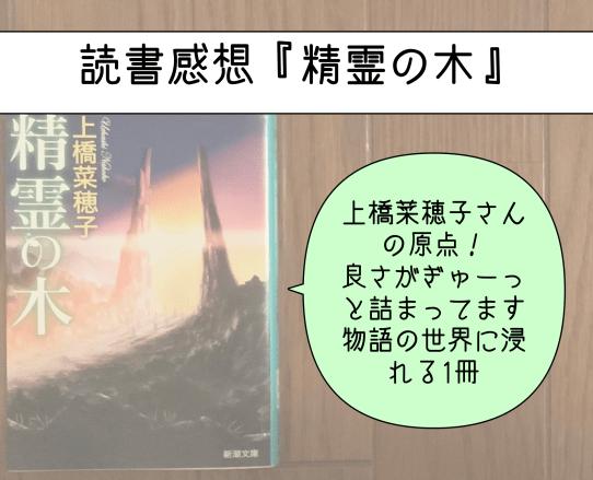本の写真「読書感想 精霊の木 上橋菜穂子さんの原点!良さがぎゅーっと詰まってます 物語の世界に浸れる1冊」