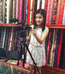 Film at the oldest Qipao shop