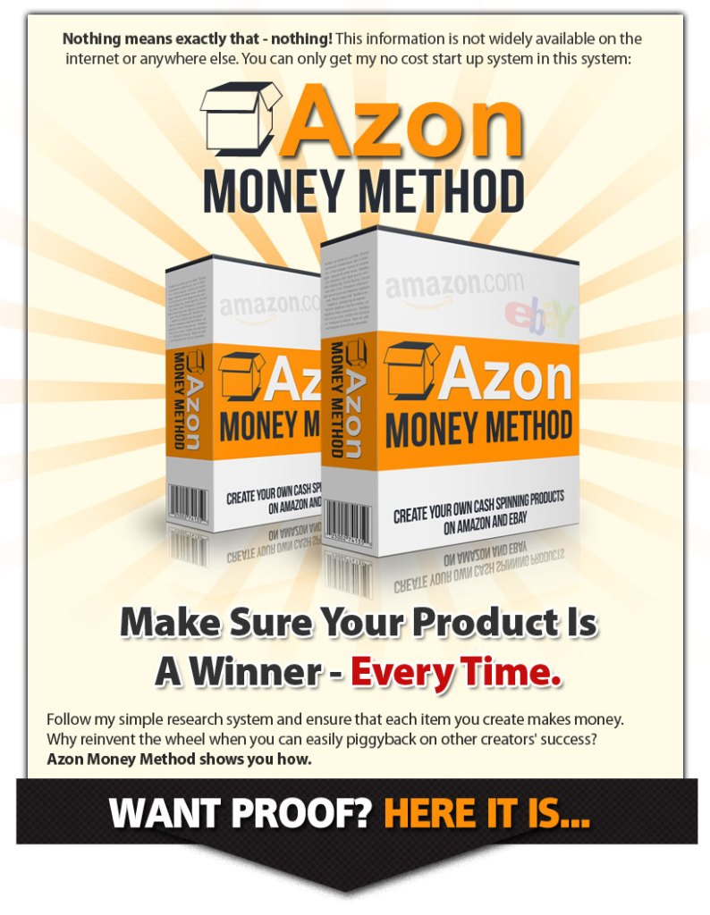 The no-money-down Amazon money method.