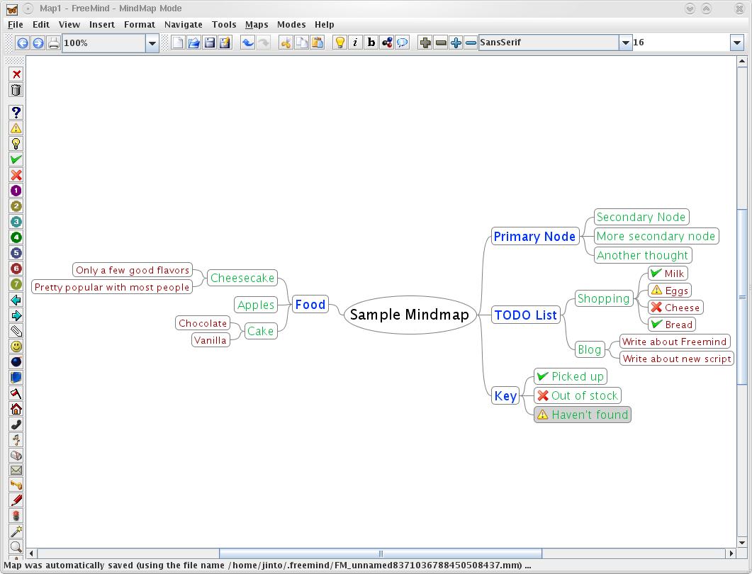 Screenshot of the main application