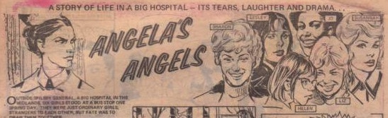 "Logo from ""Angela's Angels"" first episode; full-width, includes images"