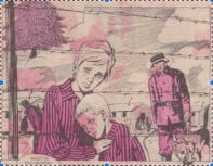 "Opening panel to first episode of ""Song of the Fir Tree"", 6 September 1975: introducing the Amundsen children and their sadistic guard, Sergeant Strang."