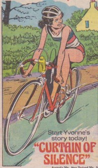 "Beautiful depiction of cycling. From ""Curtain of Silence"", 7 May 1977."