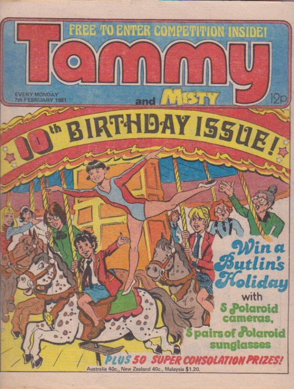Tammy 10th Birthday issue 7 February 1981