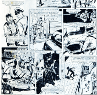 """Shooting first and checking later in """"Catch the Cat!"""" Bunty #1160, 1980."""