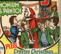 """In Jinty's last Christmas issue """"Goldilocks"""" was suspected of playing Santa. This time it looks like he's been caught in the act. Pity this panel did not appear in the actual Pam of Pond Hill story in the issue. From Tammy 25 December 1983."""