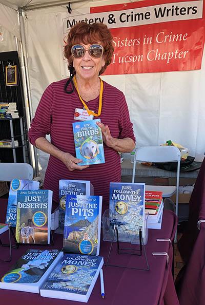 Jinx Schwartz With Books