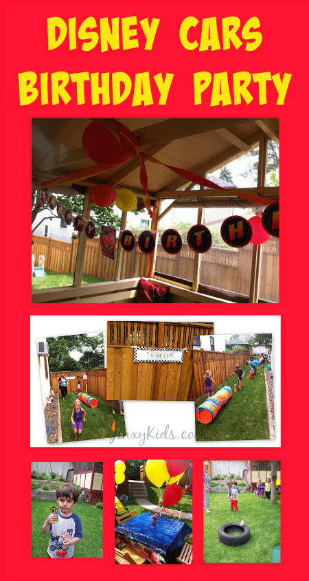 Our Disney Cars Theme Birthday Party Decorations Games And Activities Jinxy Kids