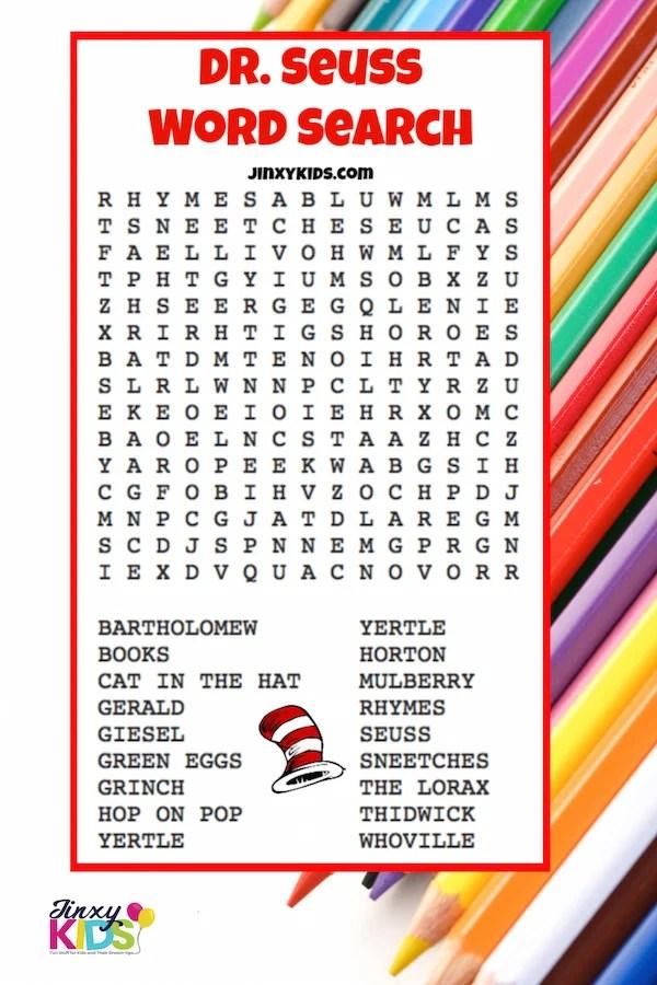 Free Printable Dr Seuss Word Search Jinxy Kids
