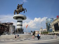 First glimpse of Macedonian government's thoughtlessness. Warrior on a Horse aka Alexander the Great, biggest part of Macedonian history. But really Macedonian or Greek? In both means the statue is terrific.