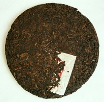 tmavý Pu-Erh koláč