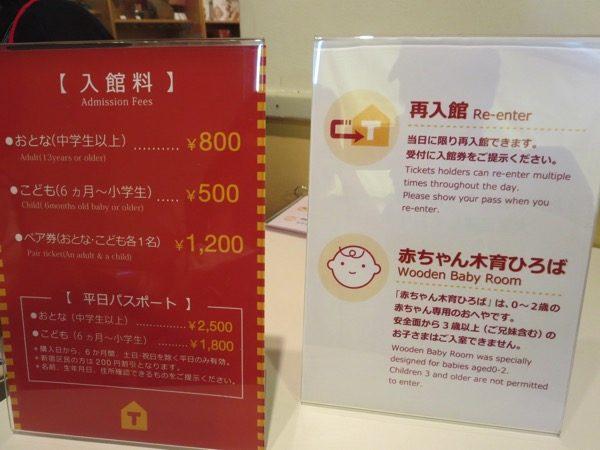 東京おもちゃ美術館の入場料