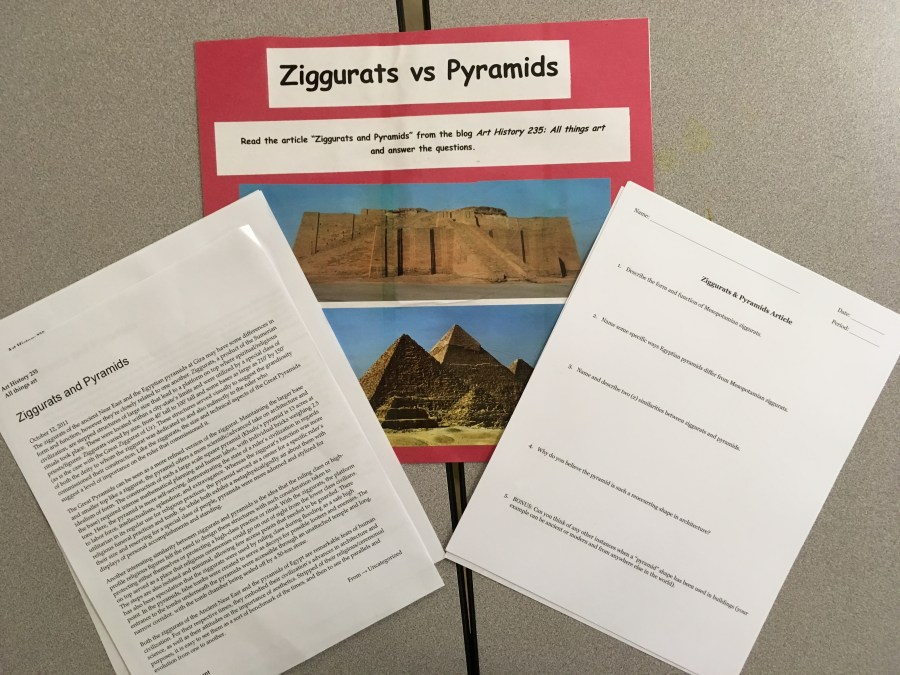 Lesson Plan: Ziggurats vs. Pyramids